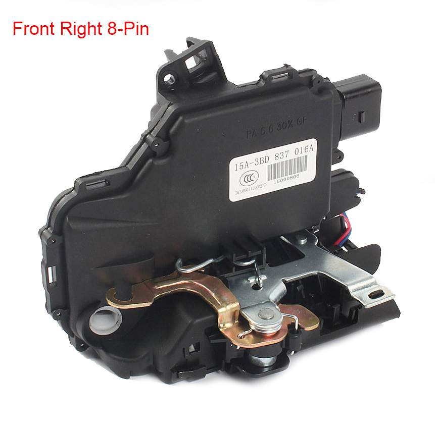 a09d629cf8cc Front Right 8-Pin Passenger Side Door Lock Latch For VW Jetta Golf IV MK4  Bora Beetle Passat B5 Polo 9N Transporter T5 Caddy