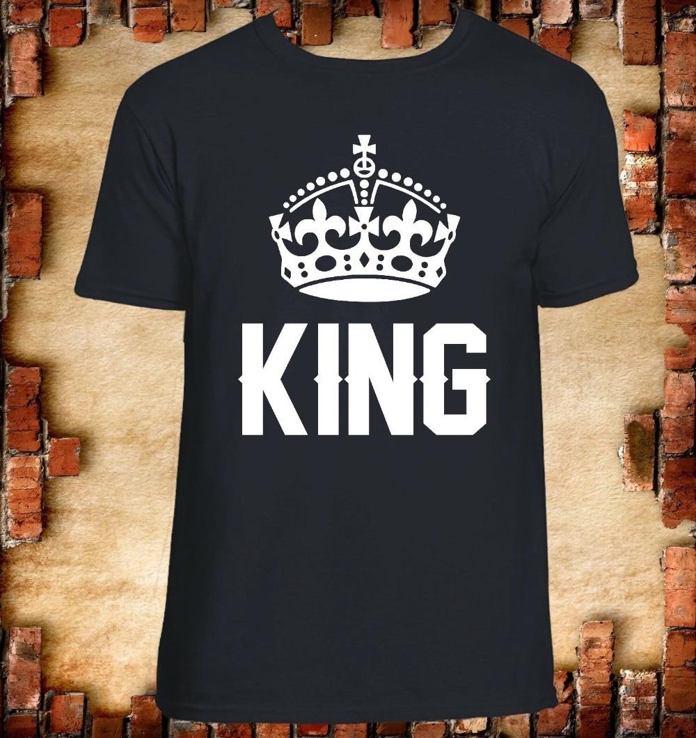 Re Queen Maglietta Idea Regalo San Valentino Uomo Donna Unisex Amore 2019 di Estate Degli Uomini Divertente Manica Corta In Cotone 3D T-Shirt