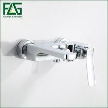 купить NEW Shower Faucet Set Bathroom water Faucet Chrome Finish Mixer Tap Wall Mounted in wall bath faucet по цене 4819.18 рублей