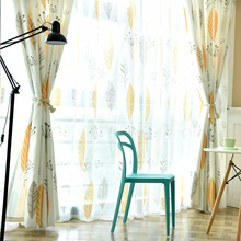 Colorful Plants Printed Curtains