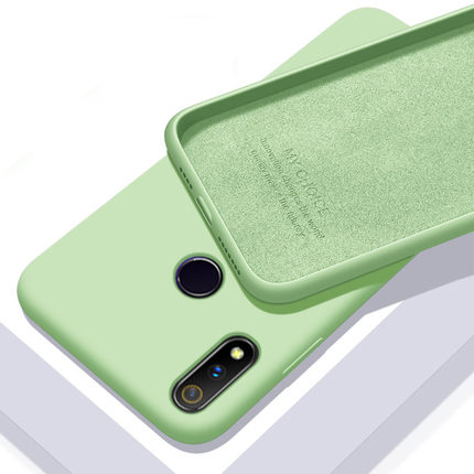 For <font><b>OPPO</b></font> Realme 3 Pro <font><b>Case</b></font> Ultra-thin Soft <font><b>Liquid</b></font> Silicone Skin Protective back <font><b>cover</b></font> <font><b>Case</b></font> for Realme 3 3Pro full <font><b>cover</b></font> shell image