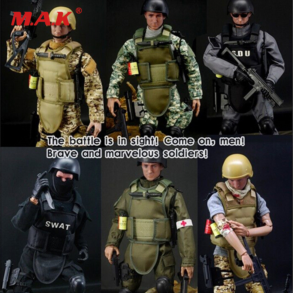 1/6 action figure military SWAT soldier Uniform Military toy Soldiers set military figurines with Box hot Model toys free shipping genuine joy toy 1 27 action figure robot military soldier set a birthday present simple packaging