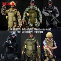 Multi 12 1 6 Soldier SWAT Action Figure Model Military Combat Game Soldier Set Army Soldier