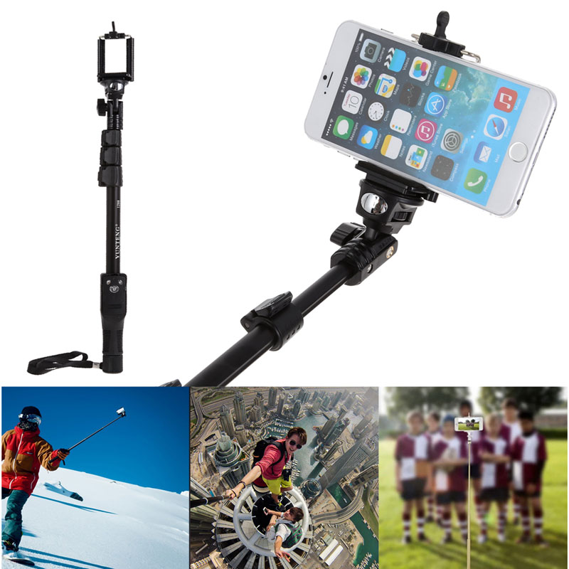 original yunteng 1288 monopod selfie sticks phone holder bluetooth shutter for mobile phone. Black Bedroom Furniture Sets. Home Design Ideas
