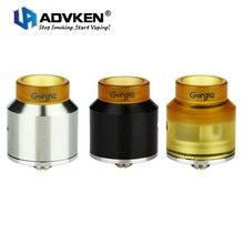Оригинальный Advken ущелье RDA танк одной катушки построить двухслойные ввиду dripper распылитель двойной скос поток воздуха электронной сигареты VS Advken CP Майка