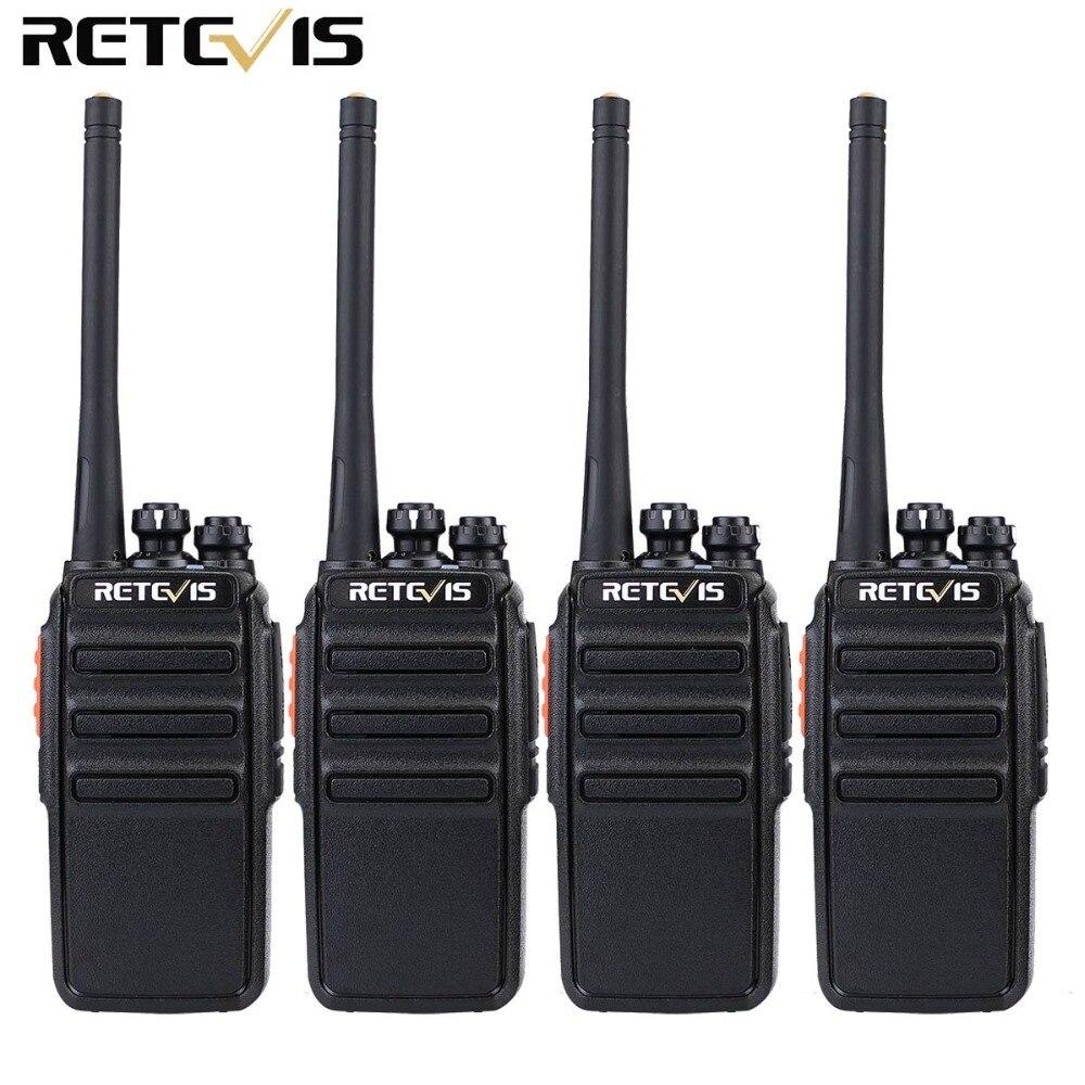 4PCS Retevis RT24 Walkie Talkie 0.5W / 2W UHF 400-470MHz PMR446 VOX - Radios