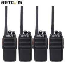 4PCS Retevis RT24 Walkie Talkie 0.5W / 2W UHF 400-470MHz PMR446 VOX sin licencia Scan Two Way Radio Communicator A9123