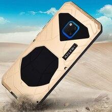 Huawei Mate 20 Pro X 용 견고한 케이스 Huawei Mate 20 Pro 케이스 용 고급 충격 방지 알루미늄 금속 및 고무 하이브리드 갑옷 커버