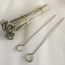 Инструменты для пикника на открытом воздухе, для дома, кемпинга, для жарки, шашлыков, игла, 15 шт., Шпажки для барбекю из нержавеющей стали, кухонная утварь
