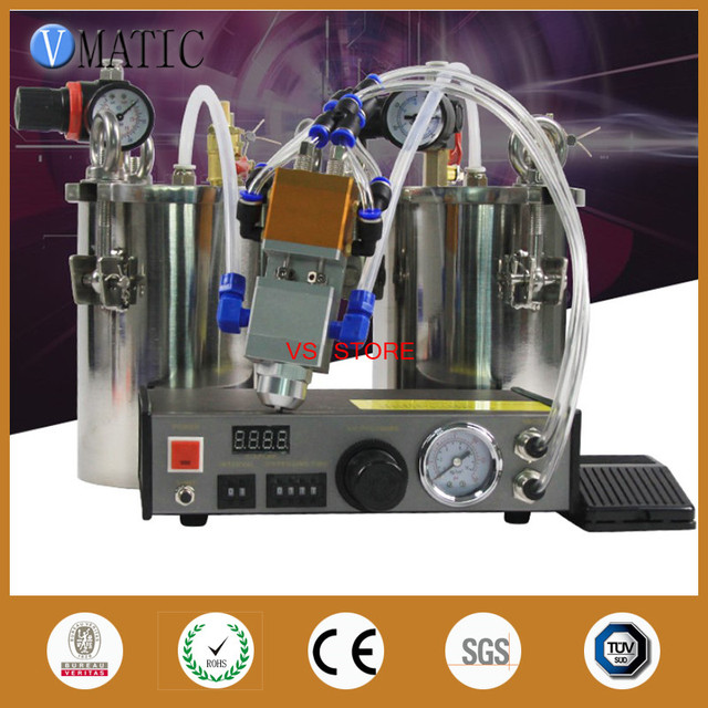 Free Shipping Automatic Dispenser Set + Stainless Steel Air Pressure Tank +Double Action Two Cylinder Dispensing Pneumatic Valve