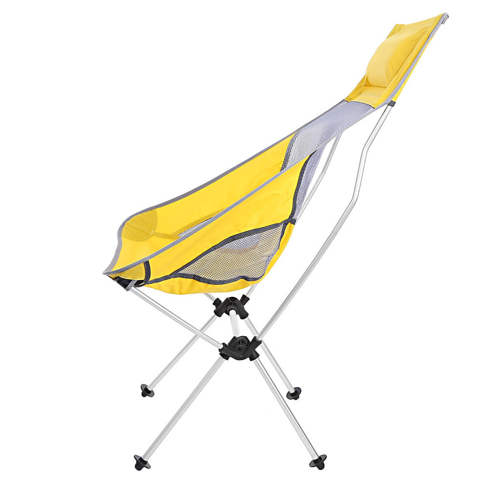 Lightweight camping chairs - Ultralight Folding Camping Chairs 4 Colors Lightweight Rocking Aluminum Alloy Moon Fishing Chair With Bag For
