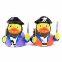 2Pcs Kids Plastic Bath Toys Duck Floating Yellow Rubber Ducks Baby Shower Bathroom Toys Yellow Decorations