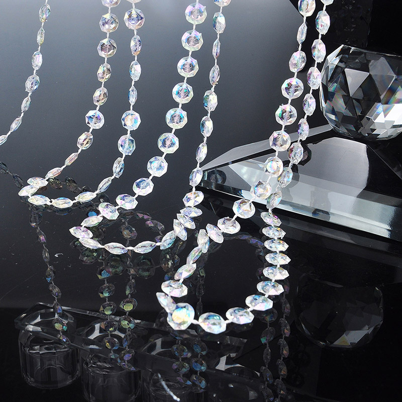 30Meters Clear Beads Chain Home Curtain Accessories Wedding Decorate Tool Chandelier Hanging Pendants Party Ornament Hanging