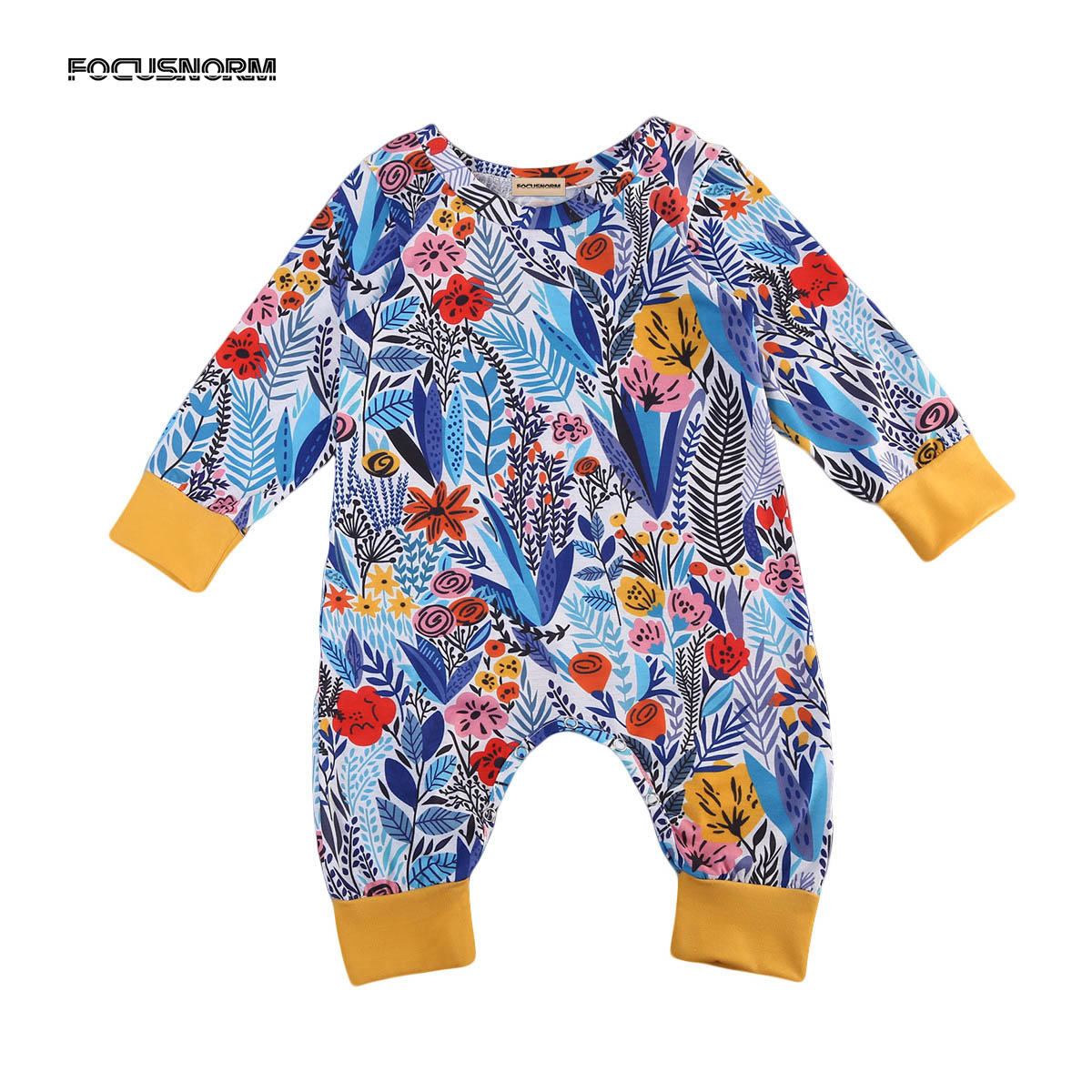New Casual Newborn Baby Boy Girl Clothes Floral Long Sleeve Romper Jumpsuit Playsuit Clothes Outfits