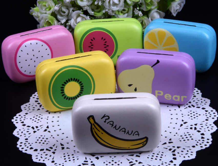 LIUSVENTINA Портативный кожаный милый фруктовый Дракон банан и лимон груша контактные линзы чехол с зеркалом для цветных линз подарок для девочек