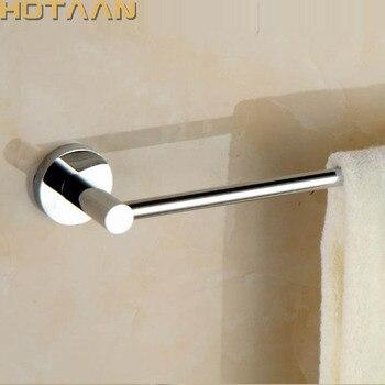Круглое полотенце для ванной комнаты из твердой латуни хромированное качество настенный держатель для полотенец туалетный бар Товары для ...