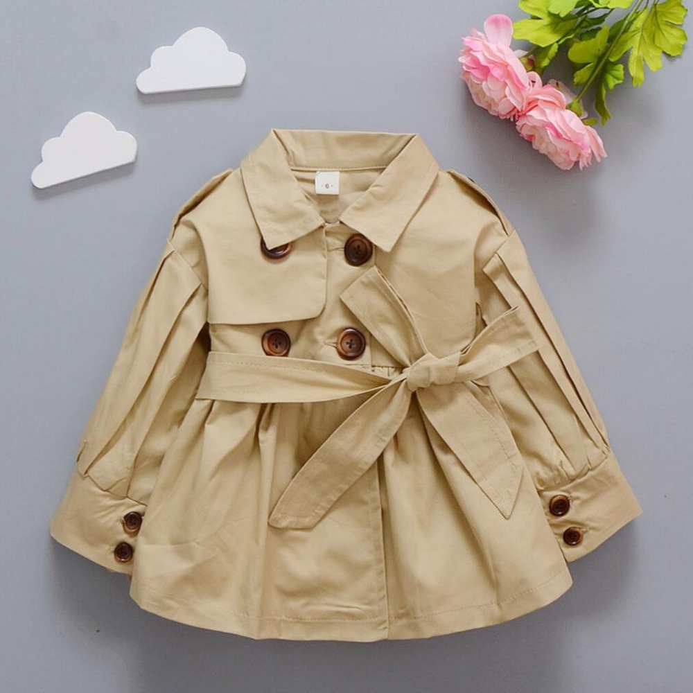 Sporting 1-4 Jahre Neue Mädchen Kleiden Zweireiher Graben Outwear Mode Jacke Kinder Kleidung Baby Kinder Weibliche Outfit Mädchen Mantel Ungleiche Leistung