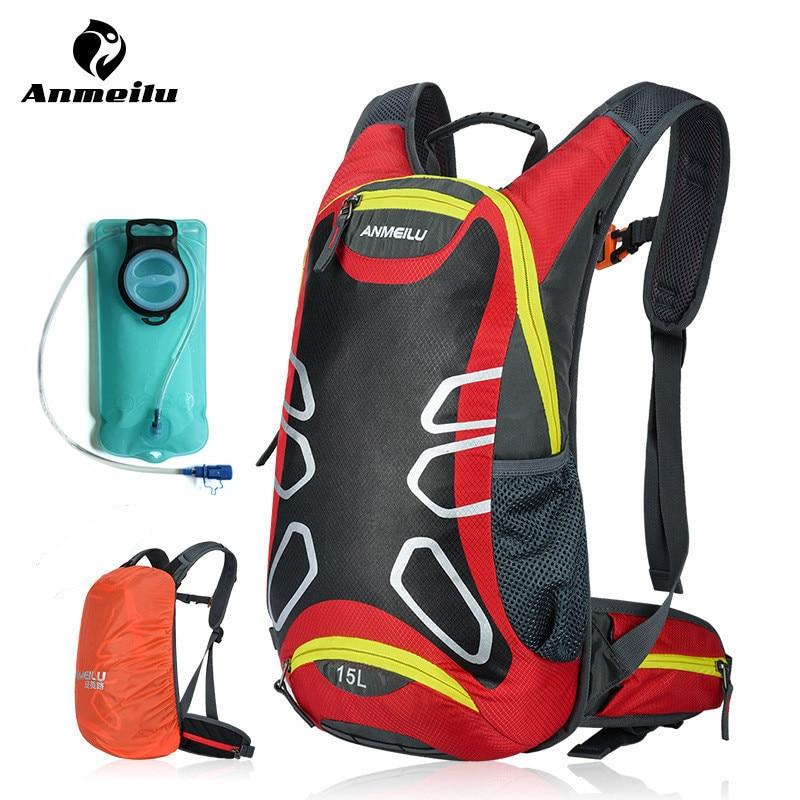 ANMEILU 2L 워터 가방 15L 수화 배낭 방수 스포츠 사이클링 야외 캠핑 가방 등산 방광 Mochila