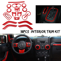 18* Car Steering Wheel Air Outlet Interior Trim Cover For Jeep Wrangler JK 11 17