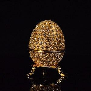 Image 2 - QIFU מתכת זהב פסחא פברז ה ביצת מלאכות תכשיט תיבת בית תפאורה