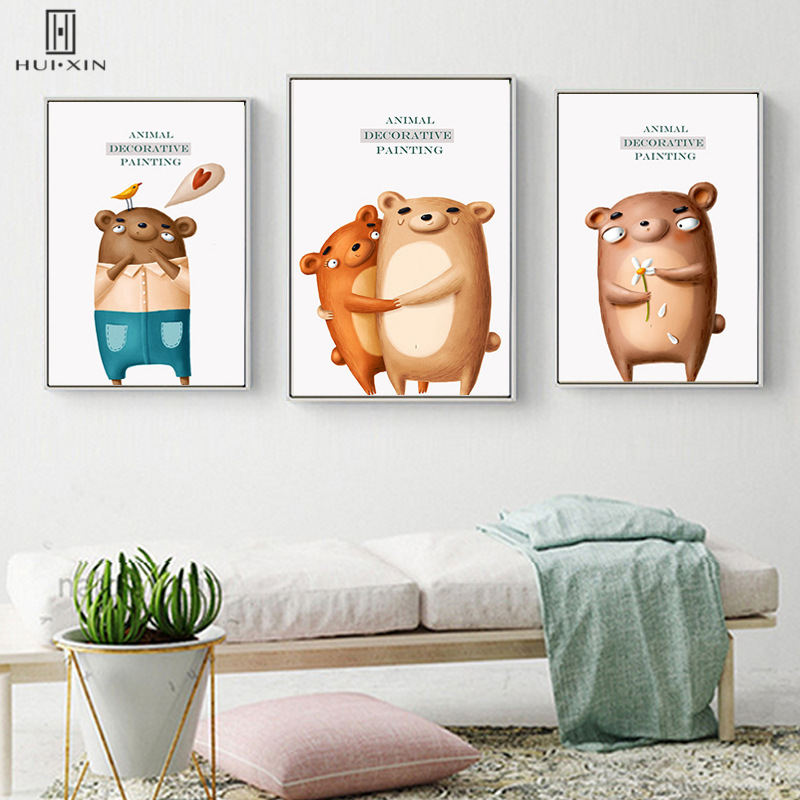 Lovely Cartoon Animals Decorative Paintings For Children Room Decoration Manificent Souvenir Kids Birthday Gift Wall Paintings