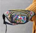 Hot New sacos de Cintura! bordados Étnicos do vintage bordado saco de lona braço titular sacos de cintura pacotes de viagem portátil ombro
