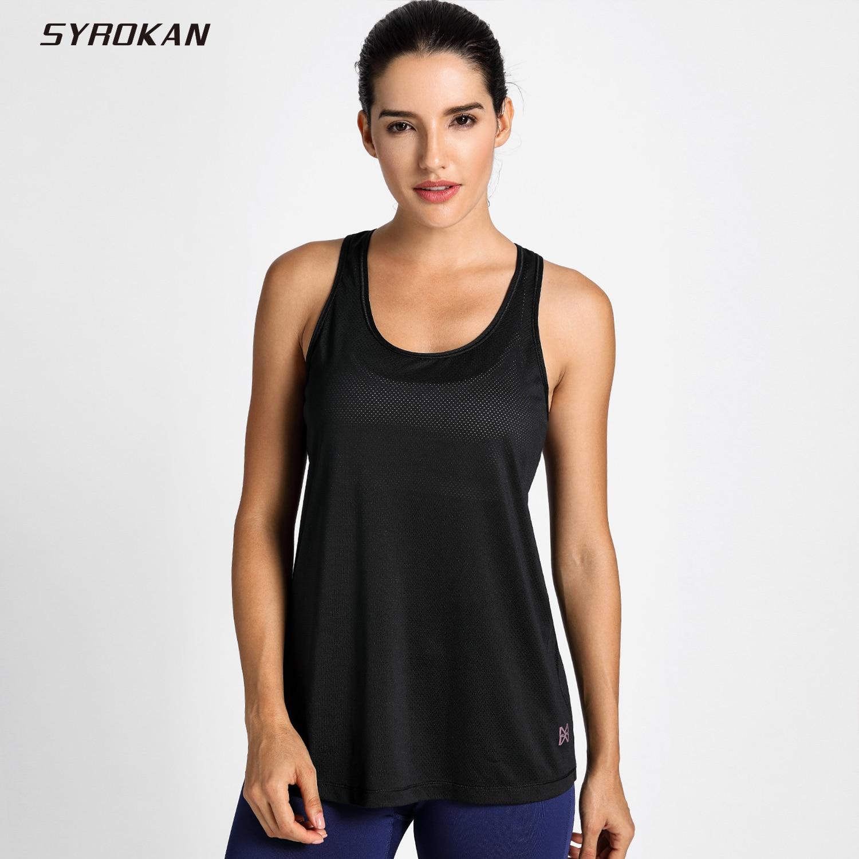 SYROKAN Womens Activewear Cool Mesh Workout Tank Tops with Cross BackSYROKAN Womens Activewear Cool Mesh Workout Tank Tops with Cross Back