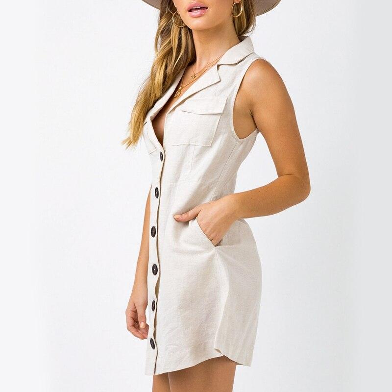 Conmoto Elegant Short Blazer Women Dress Sexy Bow Belt Tie Solid Mini Dress Linen Button Beach Wrap Party Dresses Shirt Vestidos 4