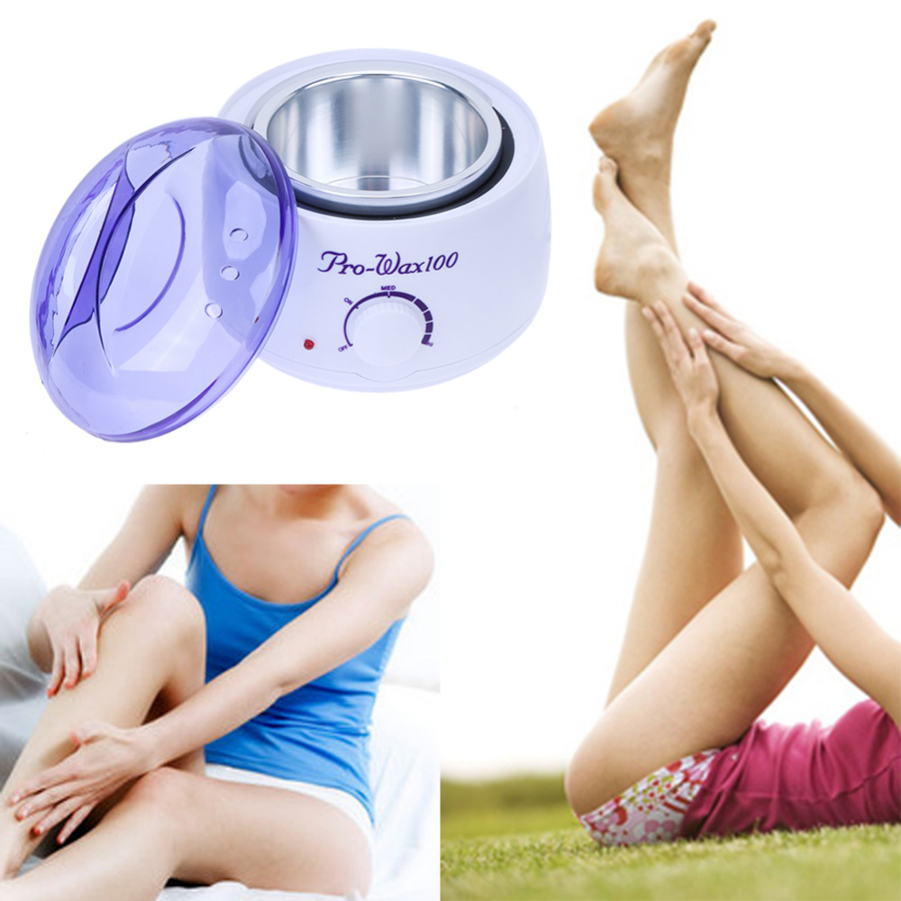 Professional Wax Beans Epilator Set Temperature Adjustable Wax Heater Hair Removal Cream Pearl EU Plug Warmer Heater Epilation