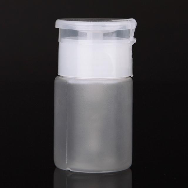 75ML Nail Art Mini Pump Dispenser Empty Bottle Acrylic Gel Polish Remover Cleaner Liquid Container Storage Small Pressure bottle