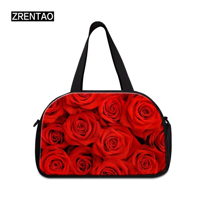 Floral Canvas Women Carry on Luggage Beach Bags Girls Duffel Bags Traveling  Tote Hikings Camps Weekend 1e5615e115dde