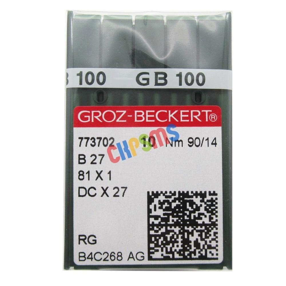 100PCS Groz Beckert DCX27 DCX1 B27 Industrial Serger Overlock Sewing Needles