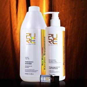 Image 2 - PURC Keratin 12% formalin 1000ml keratin hair straightening and deep cleaning hair shampoo hair care and skin care argan oil