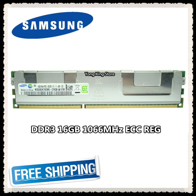 <font><b>Samsung</b></font> server memory <font><b>DDR3</b></font> 16GB 32GB 1066MHz <font><b>ECC</b></font> <font><b>REG</b></font> Register DIMM PC3-8500R RAM 240pin 8500 16G 4Rx4 X79 image