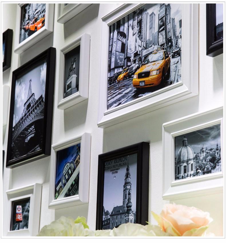 Weiß Schwarz 16 teile/satz Collage Foto Rahmen, Hochzeit Foto Rahmen ...