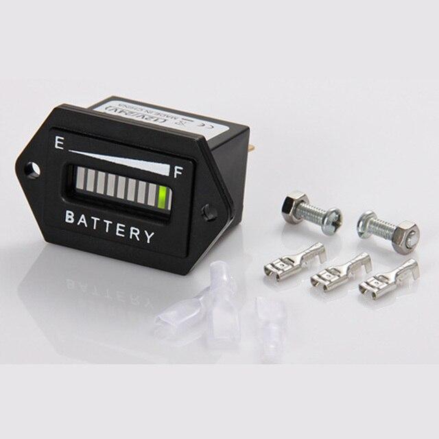Бесплатная Доставка! LED Состояние Батареи Индикатор Зарядки 12 В & 24 В, 24 В, 36 В, 48 В, 72 В