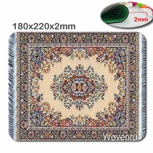 Persian carpet Customized Rectangle Non-Slip Rubber 3D printing gaming rubber durable notebook mouse pad size is 180mmx220mmx2mm
