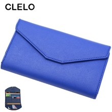 CLELO passport cover wallet new Multifunctional soft PU short passport bag travel document bag card package wallet purse