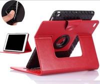 TPU siliconen soft inner 360 roterende PU lederen case voor apple 2017 ipad air 1 nieuwe 2 kleur magnetische beschermende smart case cover