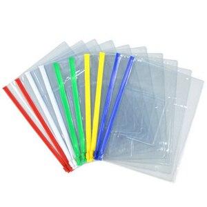 Image 3 - Ensemble de sacs de papeterie A4/A5/A6, sacs transparents en PVC de haute qualité, sac à bords transparents de bureau et fournitures scolaires pour les données sur les factures