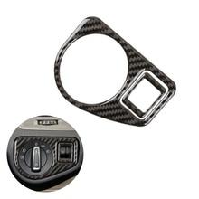цена на For VW Golf 7 MK7 VII 2013 2014 2015 2016 2017 Carbon Fiber Car Headlight Switch Panel Cover