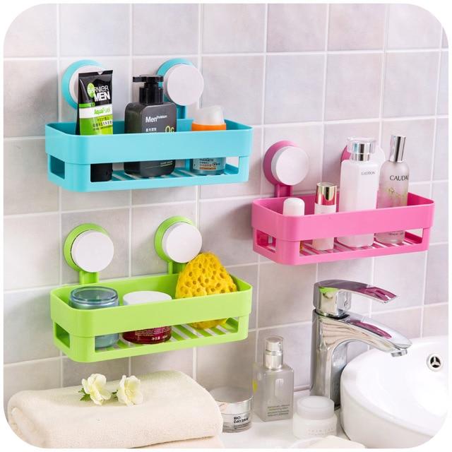 Merveilleux Simple Life Suction Cup Bathroom Shelf Basket Rack Wall Hanging Wall Shelf  Storage Shelf Bathroom Accessories