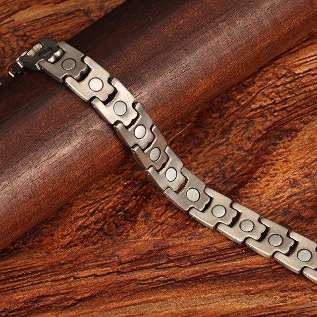 Welmag мужские магнитные лечебные браслеты из нержавеющей стали
