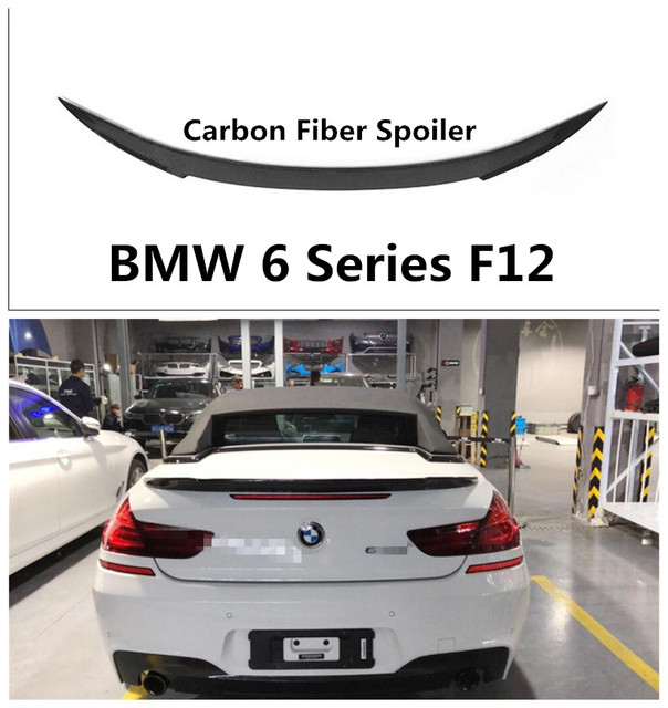 6aca7ec0007e Carbon Fiber Spoiler For BMW 6 Series F12 Convertible 2011-2019 High  Quality V Style Spoilers Auto Accessories By EMS