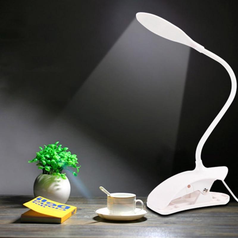 Led table lamp desk table light led desk lamps flexo flexible LED Reading Lamp with Clip Ultra Bright and Power saving цена 2017