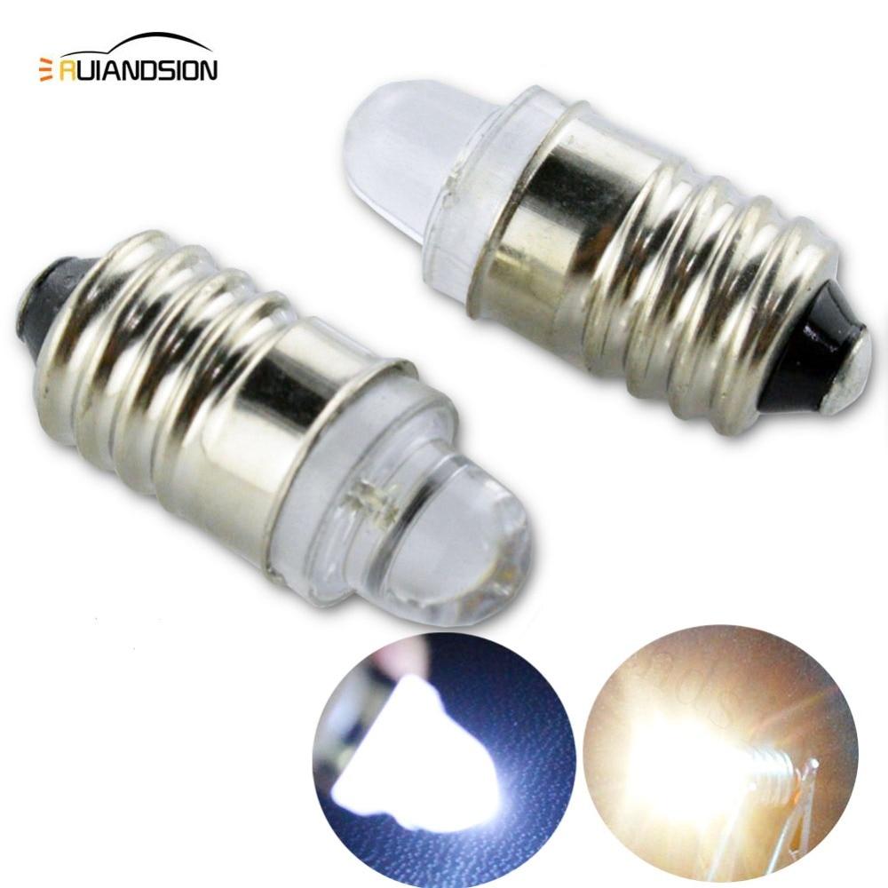 2pcs E10 LED Flashlight Bulb Lamp 3V 12V Led Bulb Replacement Flashlight Torch Bulb 3 Volt Screw Bulb