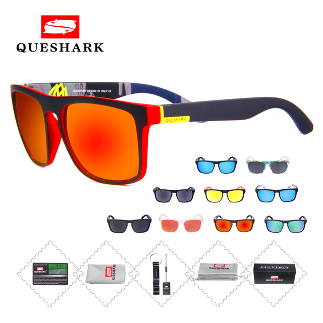 fa26c2d5a5 Queshark Men Polarized Cycling Sunglasses Bicycle MTB Road Bike Glasses  Sport Driving Fishing Goggles Cycling Eyewear