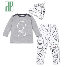 Baby boy clothes 2015 Brand summer kids clothes sets 3pcs Long-Sleeved Romper+Hat+Pants Children Clothing newborn sport suits 2017 spring newborn baby boy clothes bow lie kids suit clothing sets 3pcs children bebe solid cloth outfit sport coats boys