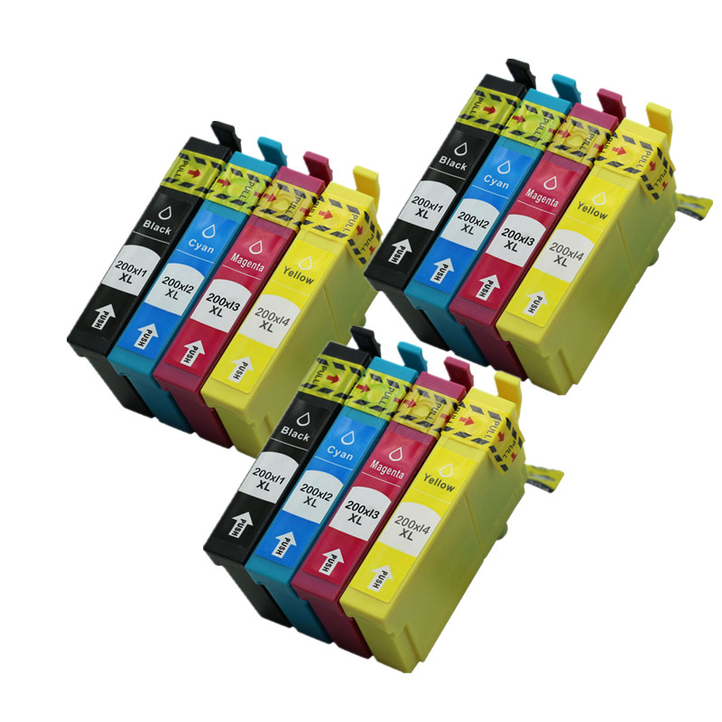 Ink Cartridge T200xl1 T200xl2 Replacement For <font><b>EPSON</b></font> Expression Home <font><b>XP</b></font>-100 <font><b>XP</b></font>-200 <font><b>XP</b></font>-300 <font><b>XP</b></font>-310 <font><b>XP</b></font>-<font><b>400</b></font> <font><b>XP</b></font>-410 Printer Inkjet image