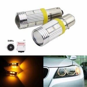 ANGRONG 2x alta potencia HY21W BAW9s 12146 luz LED 10SMD 5630 LED bombillas para luz de marcha atrás ámbar 12V